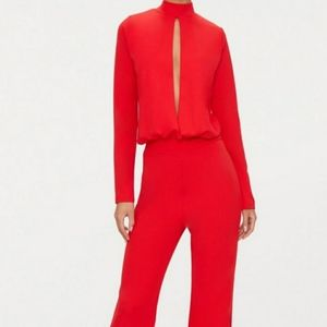 Pretty Little Thing Red Jumpsuit NWT